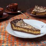 Шоколадный чизкейк с манго