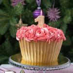 «Торт-капкейк» на день рождения маленькой девочке